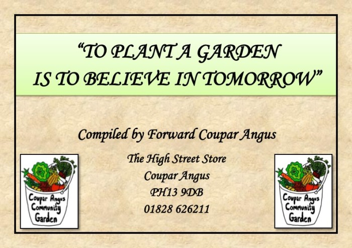 Guide to Vegetable Growing around Coupar Angus-1