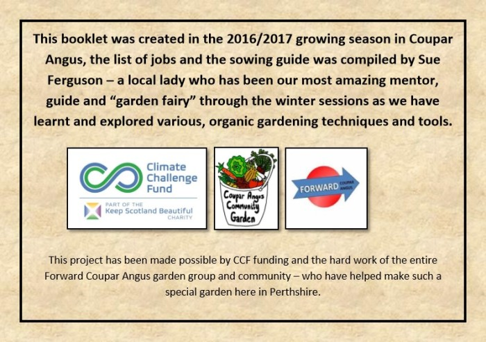 Guide to Vegetable Growing around Coupar Angus-2